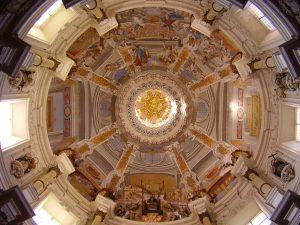 cupula de la iglesia san luis de los franceses en sevilla