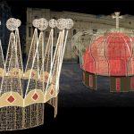 coronas de luz en la plaza de san francisco navidades en sevilla