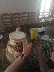 montaje de tartas en haciendas de cadiz, sevilla, huelva para bodas