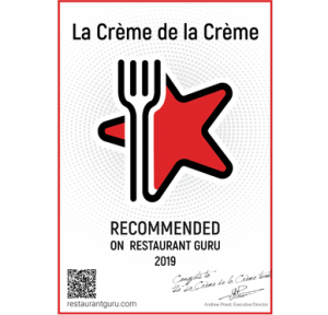 RestaurantGuru_Certificate1 La Creme de La Creme Sevilla