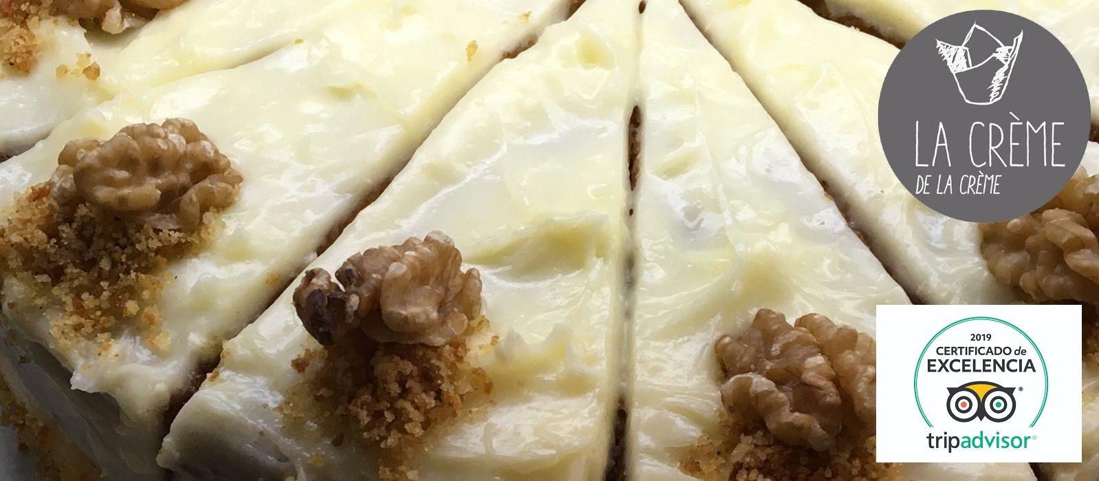 tarta-de-zanahoria-sevilla-la-creme-de-la-creme-certificado de excelencia tripadvisor sevilla